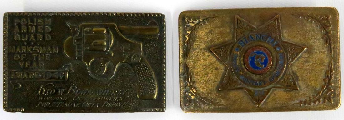 LOT (2) BELT BUCKLES INCLUDING VINTAGE BIANCHI AND