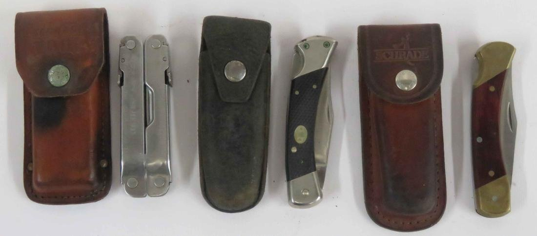 LOT (3) INCLUDING LEATHERMAN SUPER TOOL 300 WITH CASE,