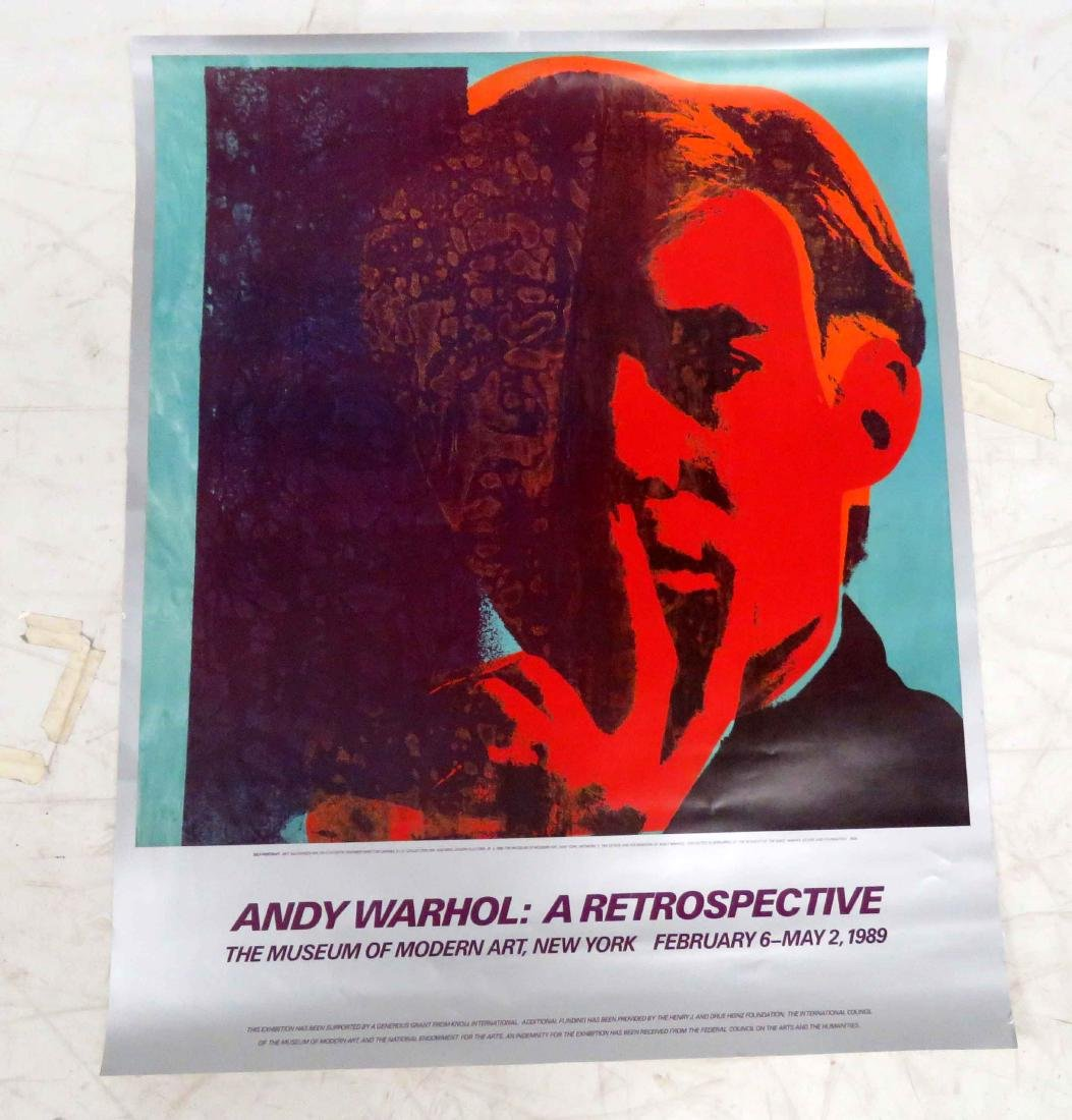 ANDY WARHOL: RETROSPECTIVE, OFFSET LITHOGRAPHIC