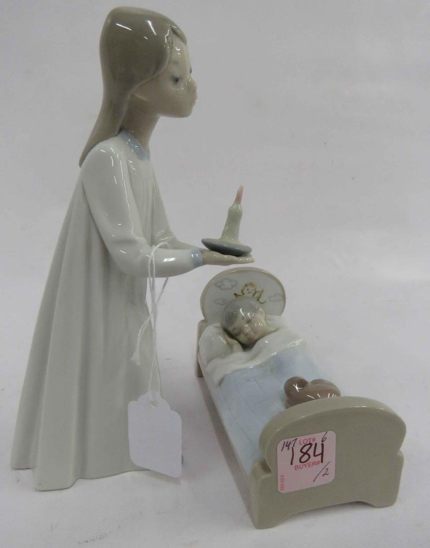 LOT (2) LLADRO PORCELAIN FIGURINES INCLUDING GIRL WITH