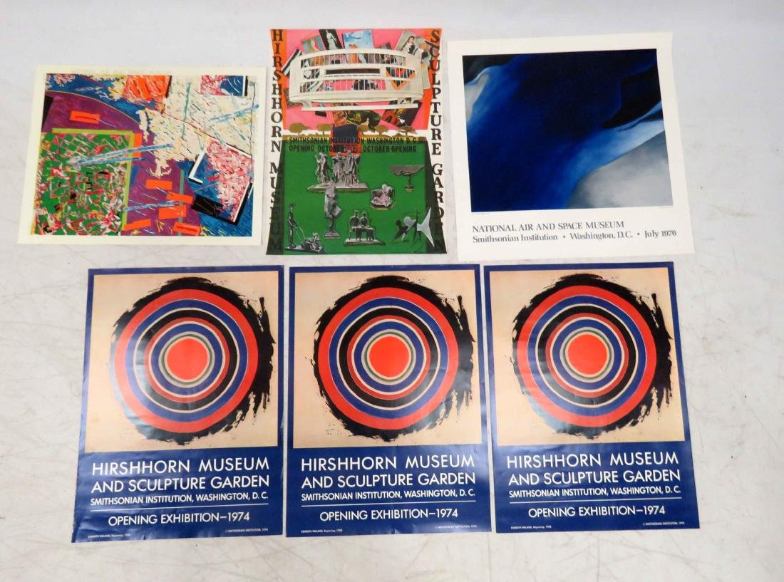 LOT (6) ASSORTED OFFSET LITHOGRAPHIC EXHIBITION POSTERS