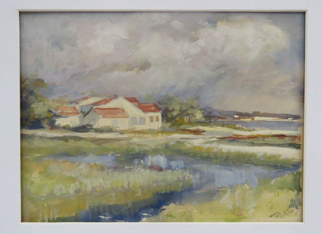 R.E. KINOIS (AMERICAN 20TH CENTURY), WATERCOLOR AND