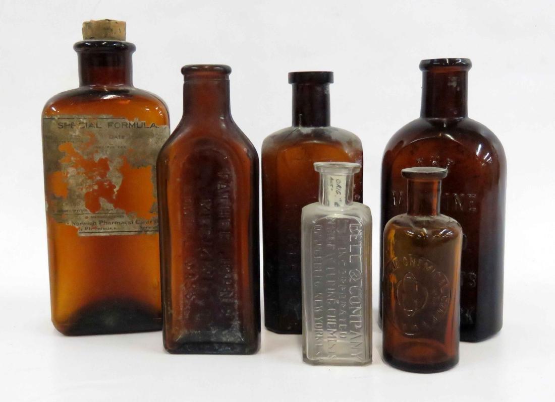 LOT ASSORTED BITTERS/MEDICINE BOTTLES, 19TH CENTURY
