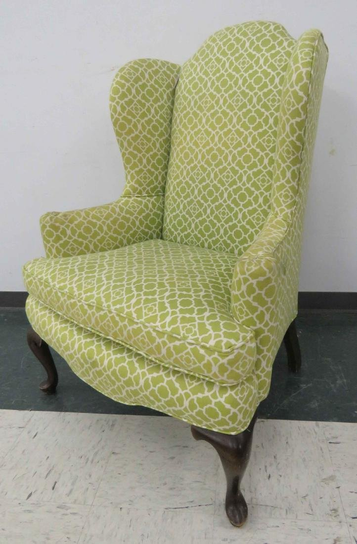 QUEEN ANNE STYLE WING-BACK ARMCHAIR