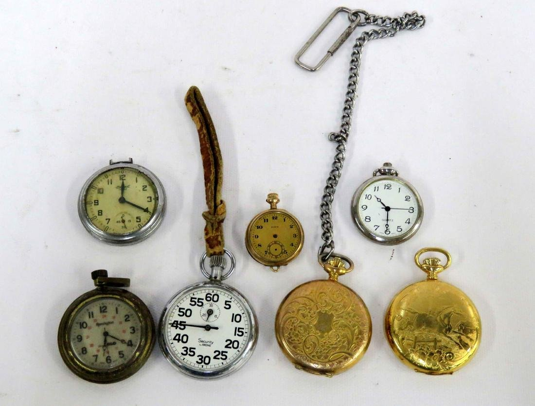LOT (7) ASSORTED VINTAGE POCKET AND PENDANT WATCHES