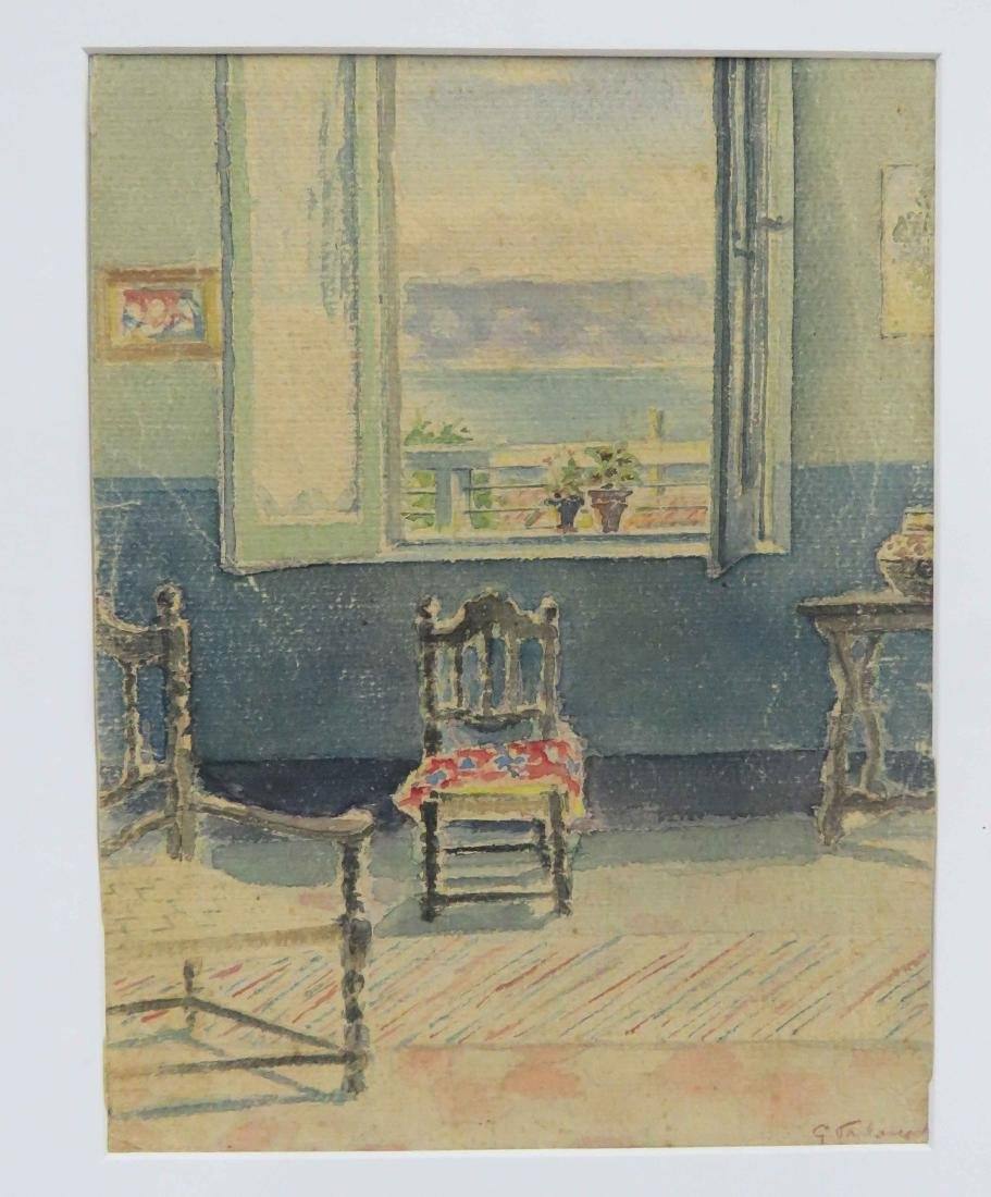 EUROPEAN SCHOOL (19/20TH CENTURY), WATERCOLOR, ROOM