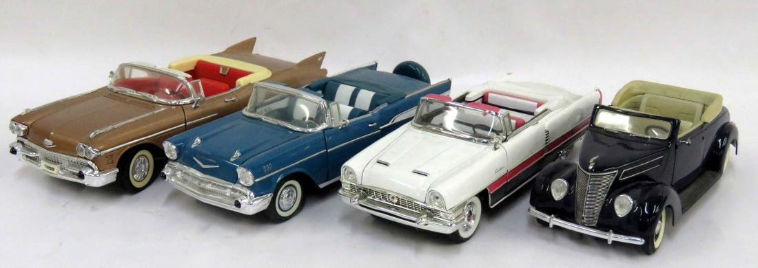 LOT (4) ASSORTED CONVERTIBLE CAR MODELS INCLUDING 1937
