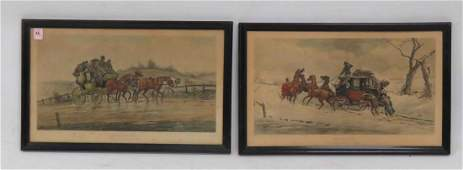 LOT 2 CURRIER  IVES LITHOGRAPHS INCLUDING SUMMER
