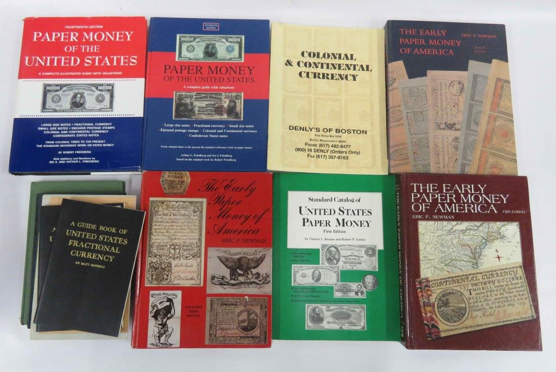 LOT ASSORTED REFERENCE BOOKS-US PAPER MONEY AND POSTAL