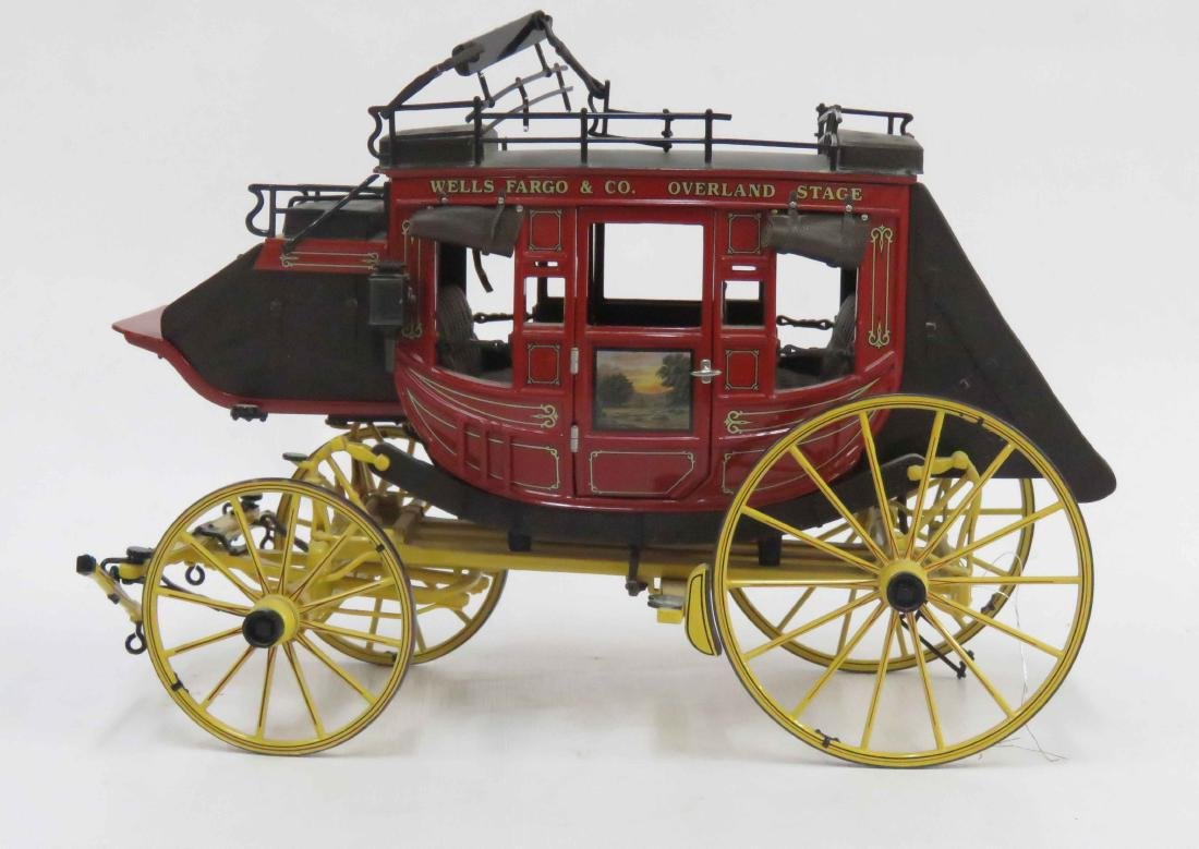 FRANKLIN MINT WELLS FARGO PLASTIC STAGE COACH. HEIGHT