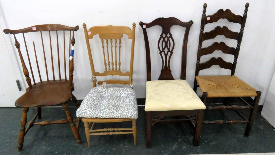 LOT (4) ASSORTED SIDE CHAIRS