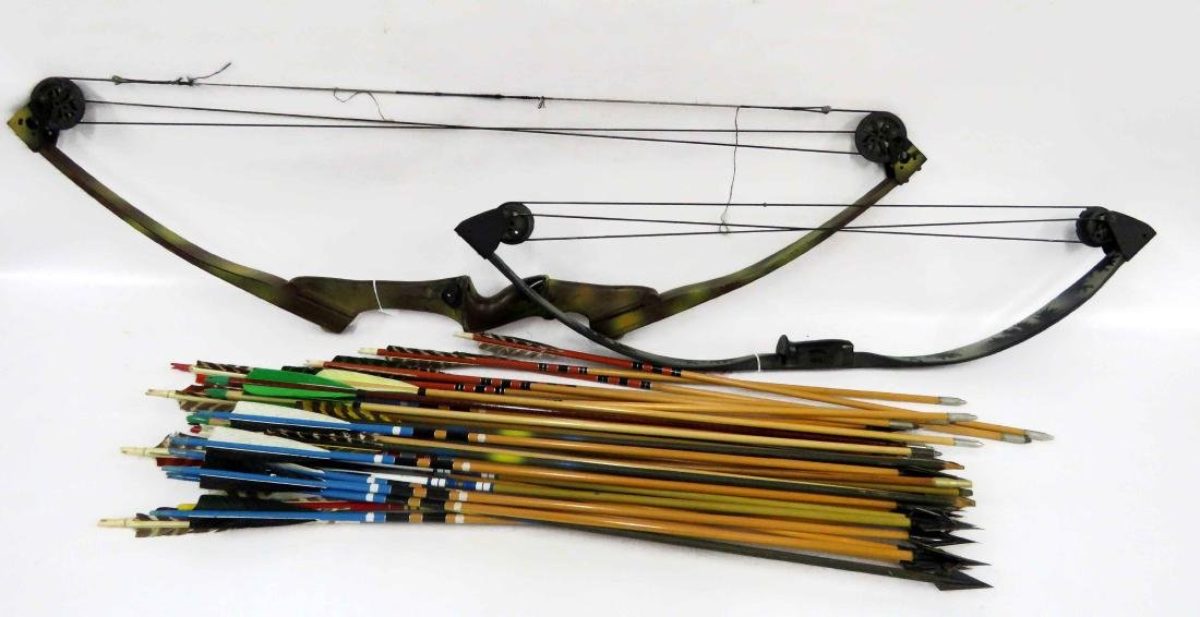 LOT (3) INCLUDING (2) COMPOUND BOWS WITH ARROWS