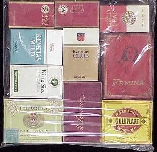 (10) ASSORTED VINTAGE CIGARETTE PACKS