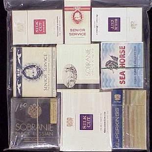 (9) ASSORTED VINTAGE CIGARETTE PACKS