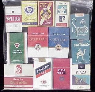 (13) ASSORTED VINTAGE CIGARETTE PACKS