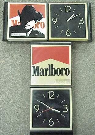 LOT (2) MARLBORO ADVERTISING CLOCKS