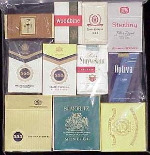 (11) ASSORTED VINTAGE CIGARETTE PACKS