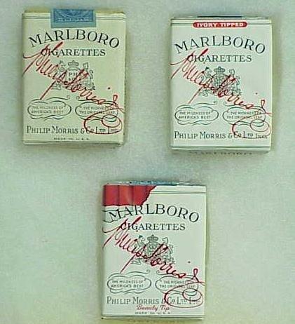 1230: (3) VINTAGE MARLBORO CIGARETTE PACKS