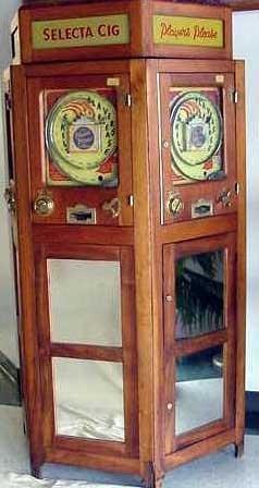 1255: RARE VINTAGE SELECTA CIG BAGATELLE MACHINE