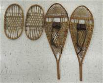 LOT (2) INCLUDING PAIR FABER HIDE SNOWSHOES, MADE IN