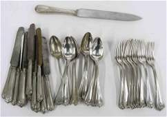 LOT CHRISTOFLE SILVER PLATE FLATWARE A FEW NOT SIGNED