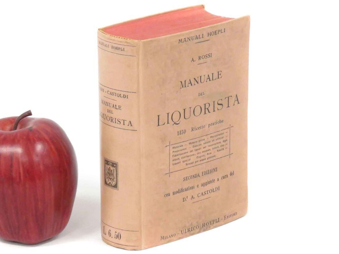 VOLUME-MANVALE DEL LIQUORISTA, A. ROSSI, 2ND EDITION