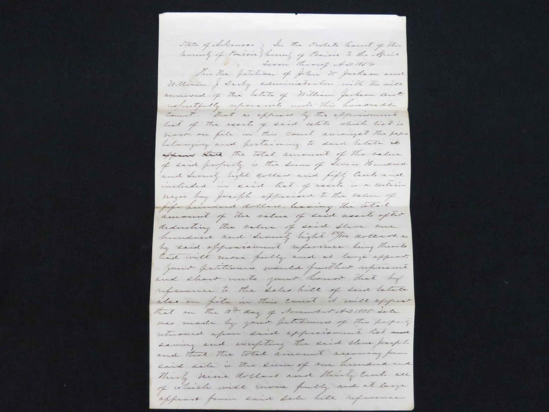 DOCUMENT-PROBATE COURT PETITION FOR SALE OF NEGRO SLAVE - 3