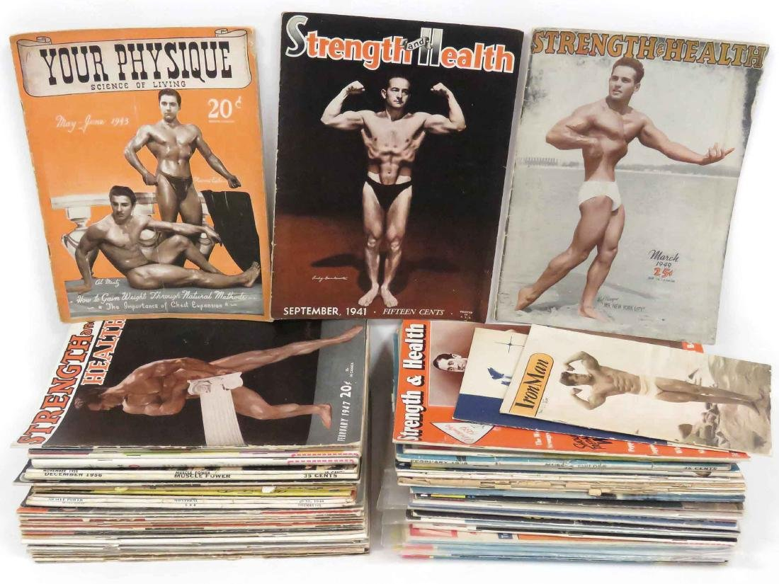 LOT ASSORTED VINTAGE BODY BUILDING MAGAZINES INCLUDING
