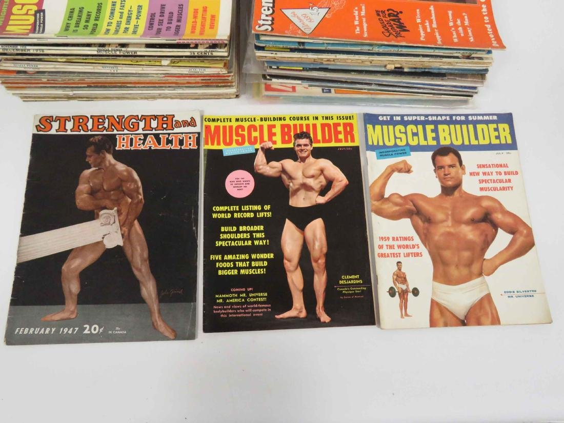 LOT ASSORTED VINTAGE BODY BUILDING MAGAZINES INCLUDING - 2