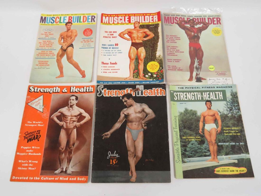 LOT ASSORTED VINTAGE BODY BUILDING MAGAZINES INCLUDING - 3