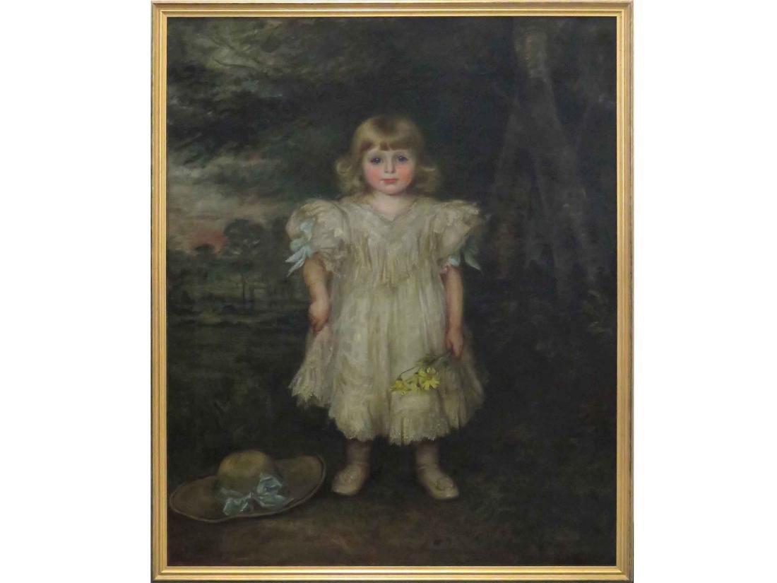 GEORGINA KOBERWEIN TERRELL (AMERICAN 1876-1903) OIL ON