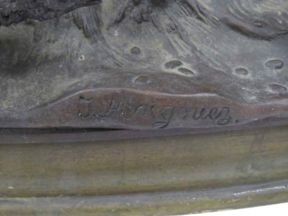 """JULES MOIGNIEZ (FRENCH 1835-1894), BRONZE, """"COUPLE DE - 3"""
