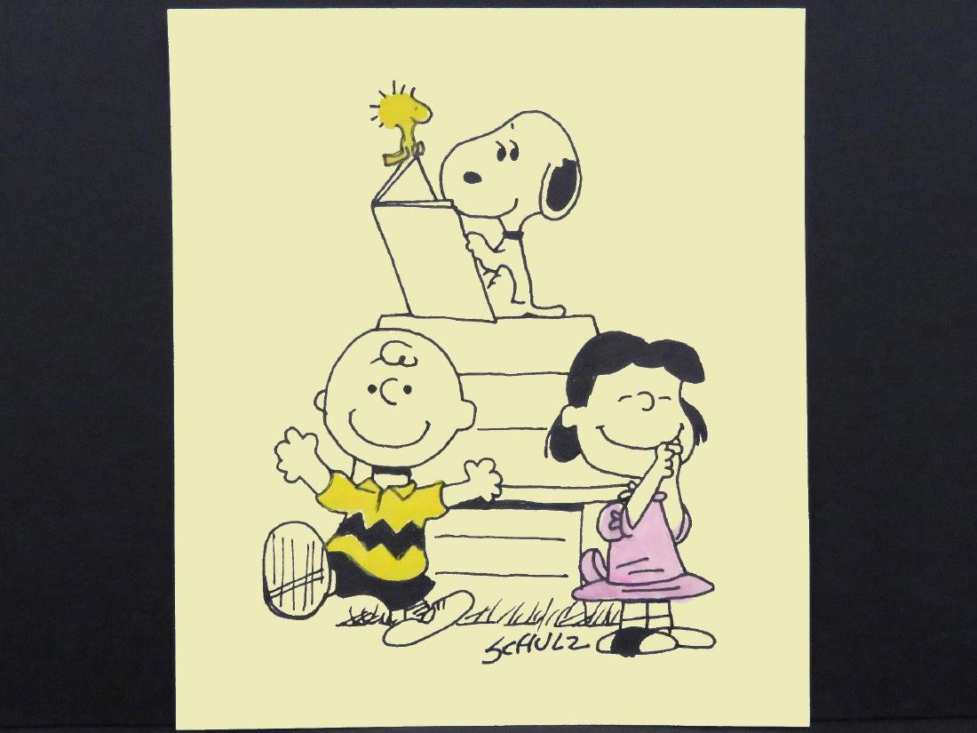 CHARLES SCHULZ (AMERICAN 1922-2000), INK ON PAPER,