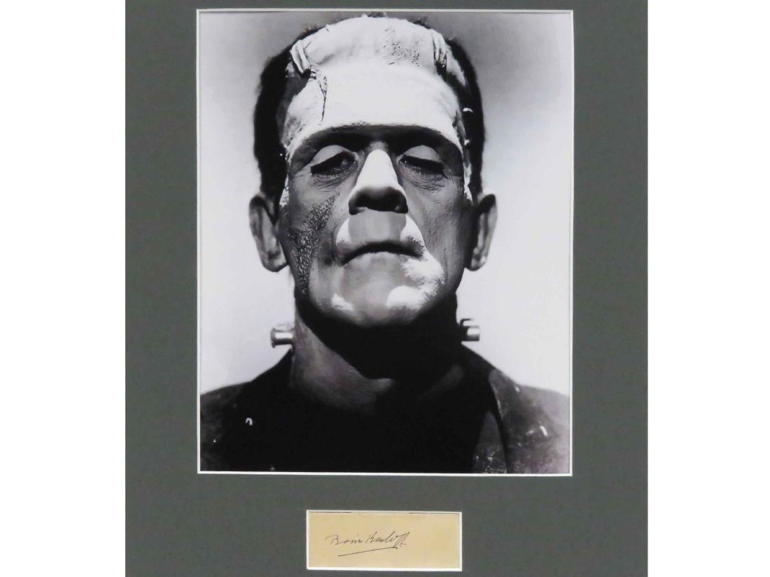 BORIS KARLOFF (AMERICAN ACTOR 1887-1969), INK SIGNATURE