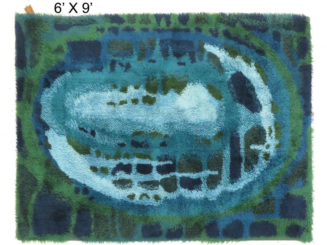 DANISH RYA RUG. 6 X 9'