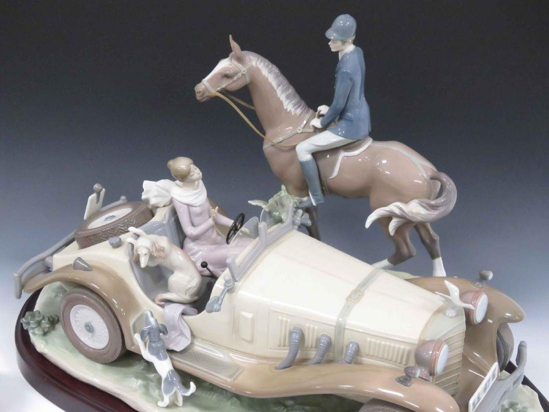 "LLADRO #1523 ""A HAPPY ENCOUNTER"", SIGNED EDITION 1500, - 2"