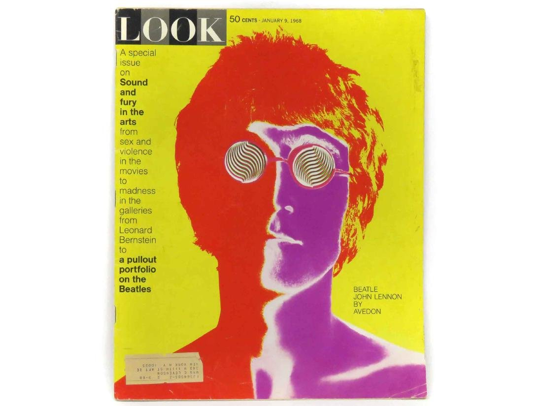 LOT (2) INCLUDING LOOK MAGAZINE, JAN 9, 1968 (INCLUDING