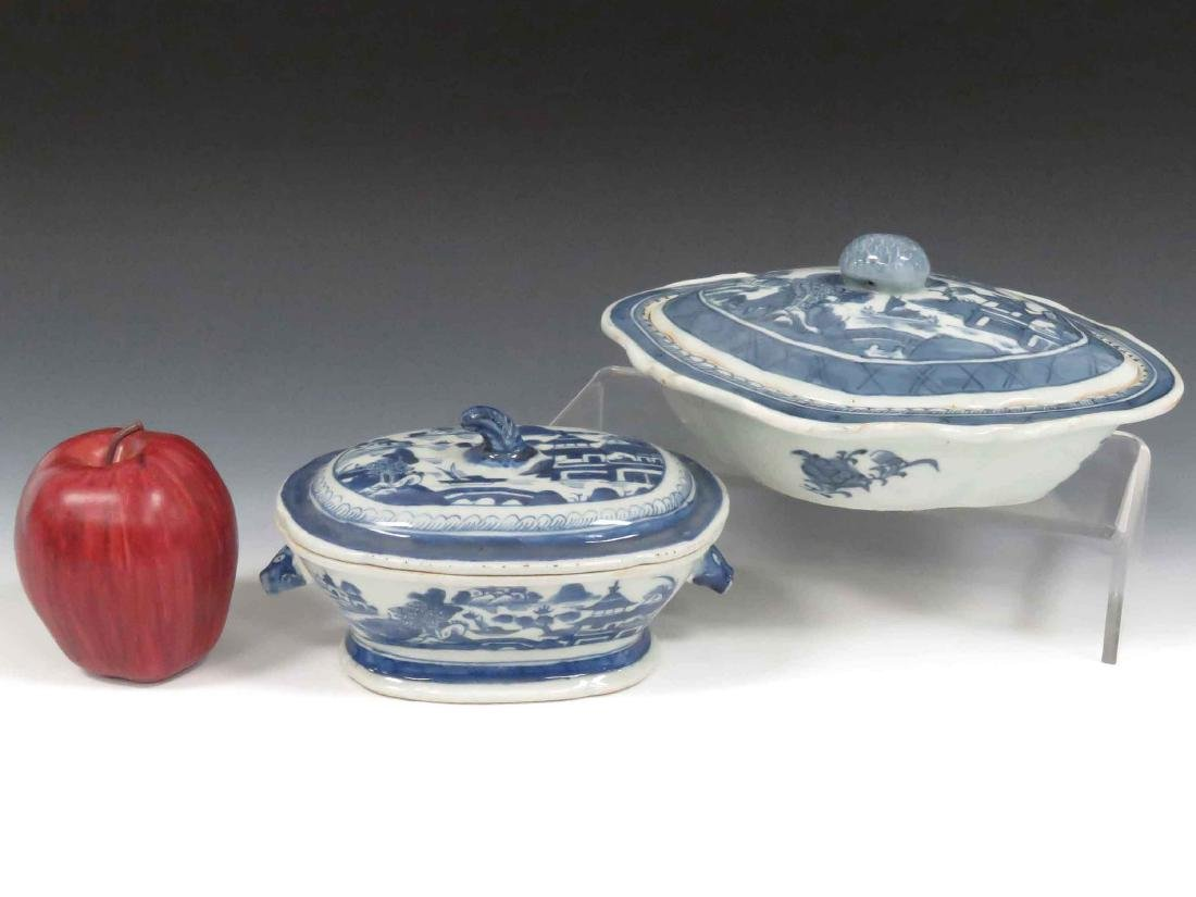 LOT (2) CHINESE CANTON EXPORT PORCELAIN STYLE INCLUDING