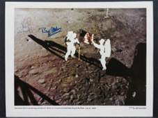 NASA APOLLO XI PHOTO LITHOGRAPH SIGNED