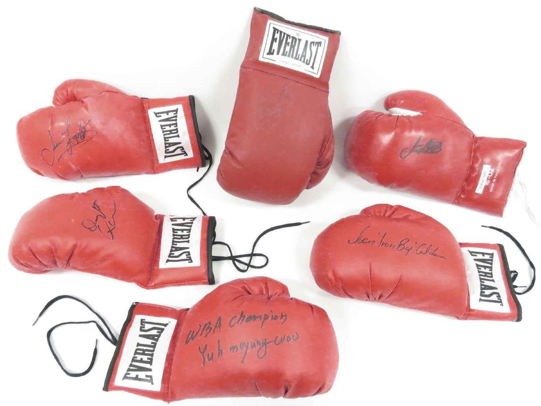 LOT (6) AUTOGRAPHED BOXING GLOVES