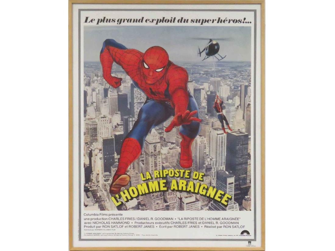 FRENCH OFFSET LITHOGRAPH MOVIE POSTER, SPIDERMAN, 1978.