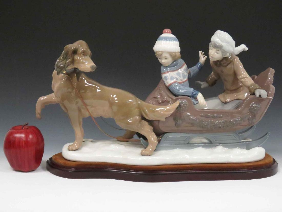 "LLADRO #5037 ""SLEIGH RIDE"", SIGNED 1980. HEIGHT 11"";"