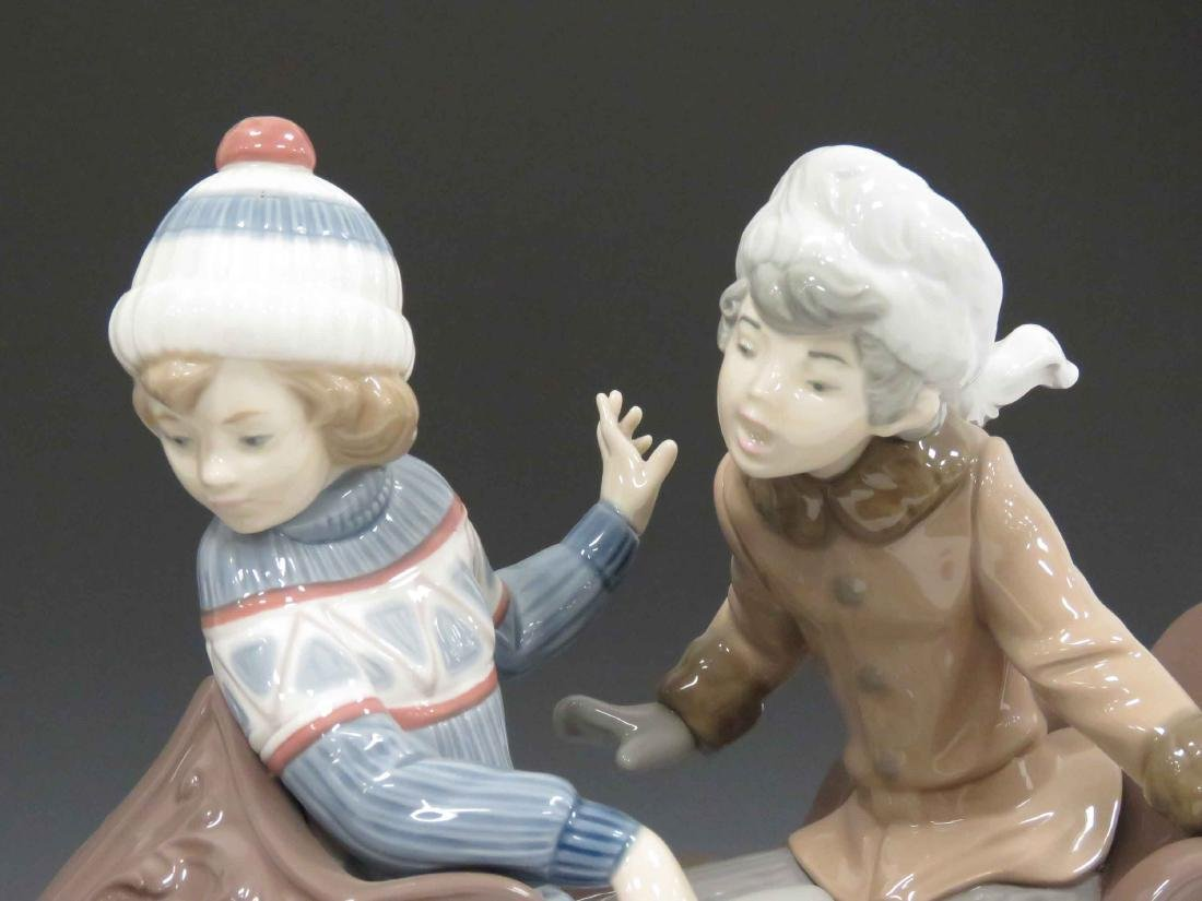 "LLADRO #5037 ""SLEIGH RIDE"", SIGNED 1980. HEIGHT 11""; - 2"