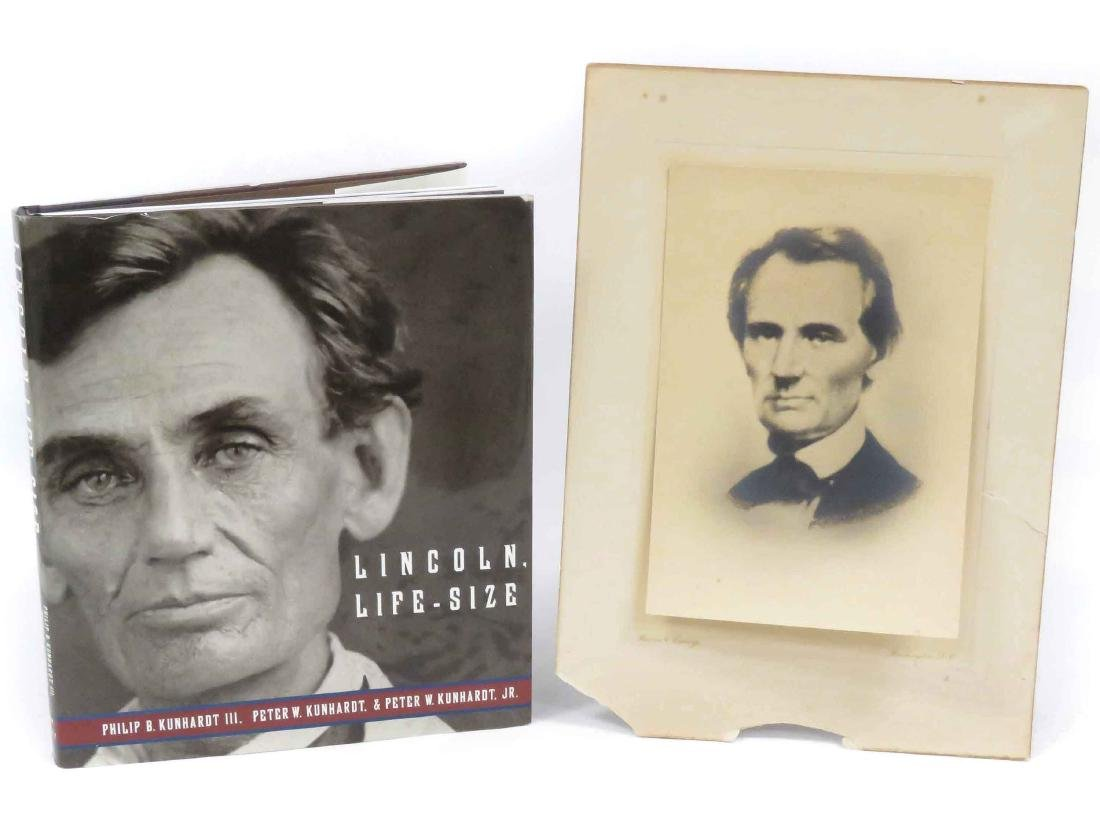 VINTAGE CALOTYPE ABRAHAM LINCOLN, BY HARRIS N. EWING,