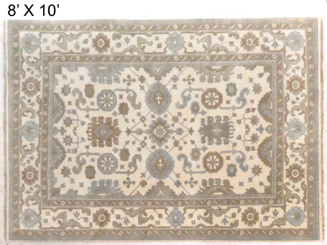 TURKISH ANGORA USHAK CARPET. 8 X 10'