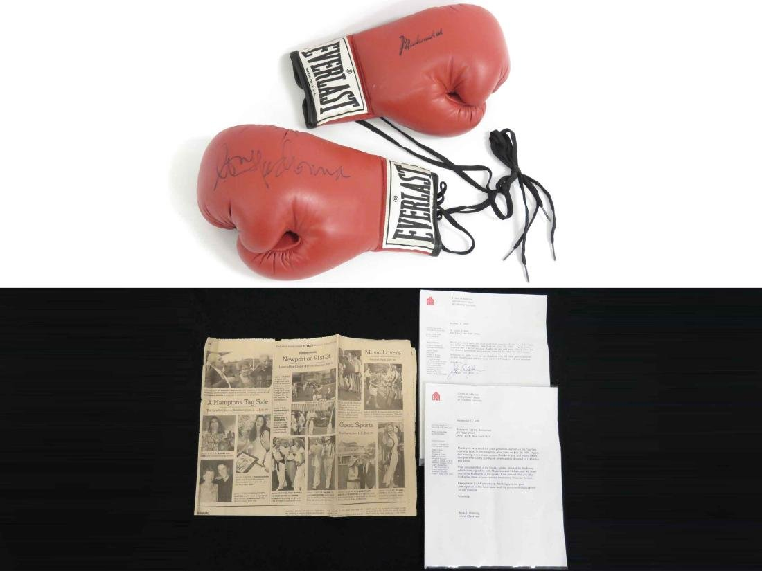 PAIR AUTOGRAPHED BOXING GLOVES, (1) SIGNED BY MADONNA,