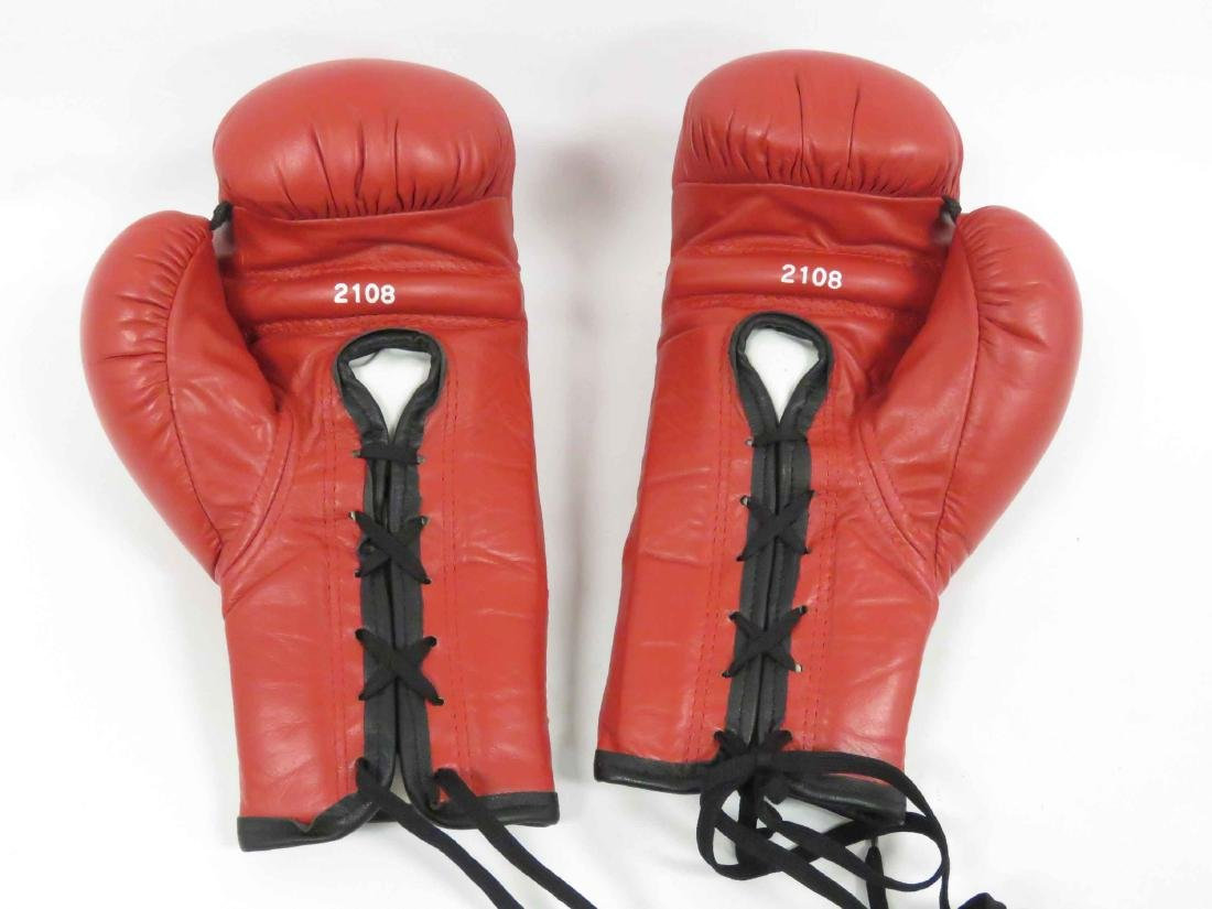 PAIR AUTOGRAPHED BOXING GLOVES, (1) SIGNED BY MADONNA, - 5