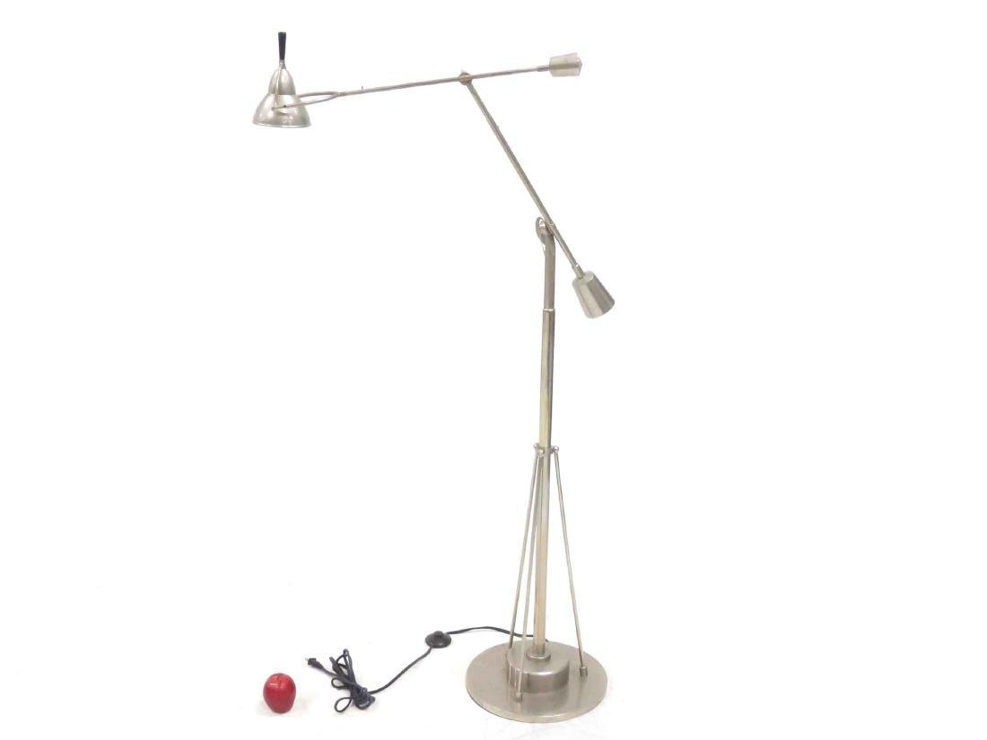 DESIGNER MODERN CHROMED ADJUSTABLE FLOOR LAMP