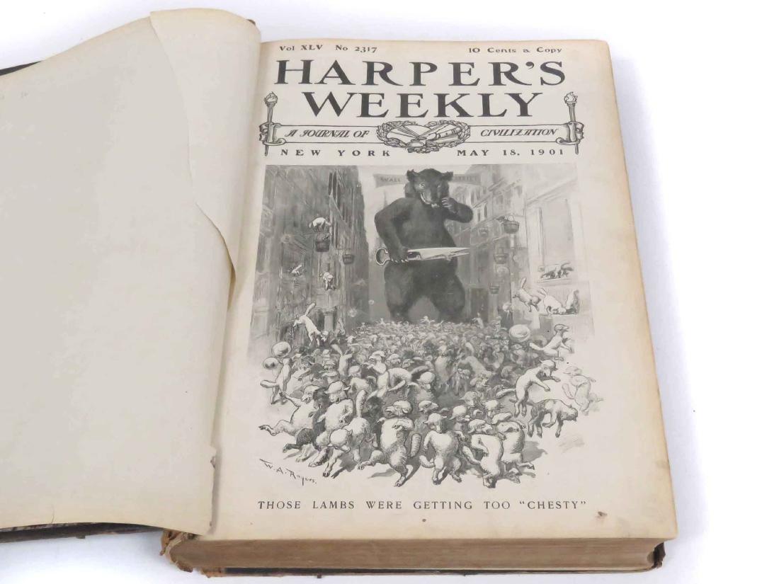 BOUND HARPER'S WEEKLY- MAY 19, 1901-DEC 28, 1901 (LOOSE