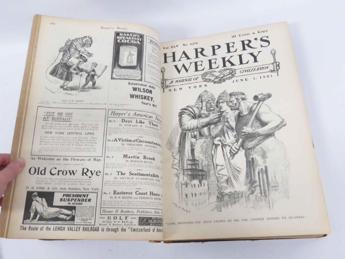 BOUND HARPER'S WEEKLY- MAY 19, 1901-DEC 28, 1901 (LOOSE - 3
